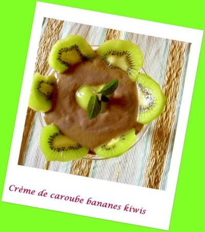 Crème de l'île de Madère, caroube banane