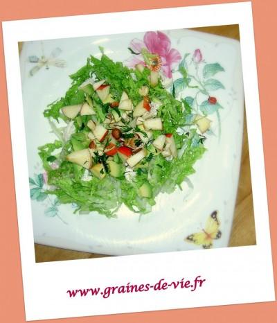 Salade Chou Pé Tsaï, pommes noisettes