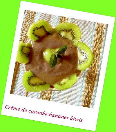 Recette à la caroube #2 : crème de caroube banane