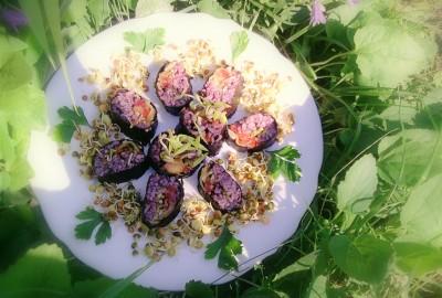 Plat sushis colorés