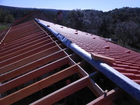 Chantier 5 : charpente, isolation et couverture du toit partie nord