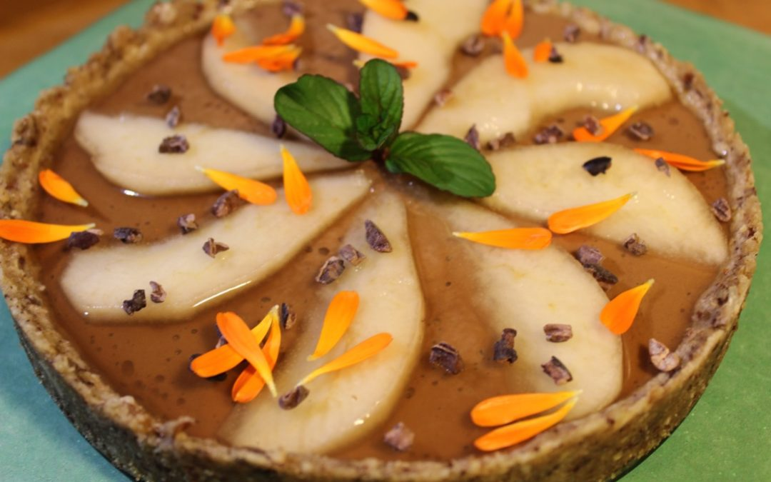Tartelette aux poires et à la crème de noisettes